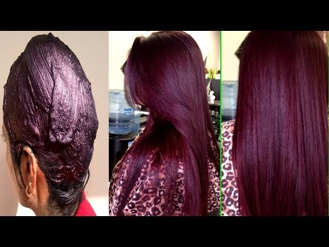 How To Colour Your Hair Naturally At Home - 100 % Natural Burgundy Colour With Henna | PRIYA MALIK
