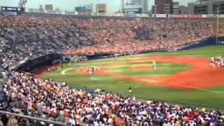 2013.8.25 横浜スタジアム 横浜vs巨人 試合前始球式.