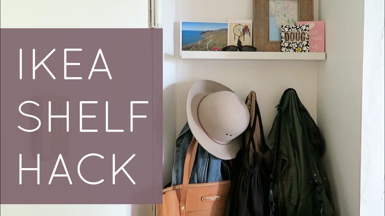 IKEA SHELVING HACKS // Small Space Living