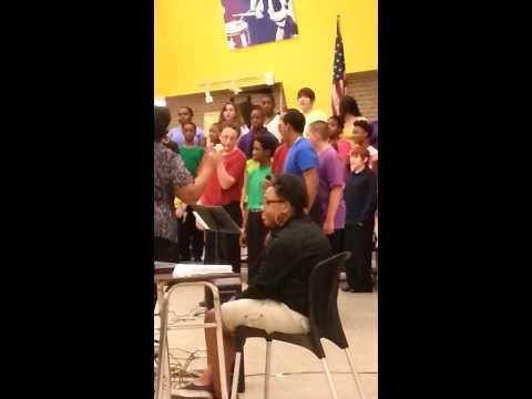 Dozier Chorus sings Happy!