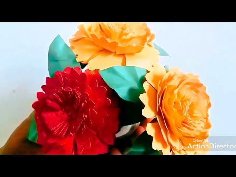 HOW TO MAKE PAPER FLOWER | PAPER FLOWER | ORIGAMI MARIGOLD PAPER FLOWER | #SumansCraft