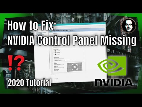 How To Fix NVIDIA Control Panel Missing - Windows 10 2020 [Solved]