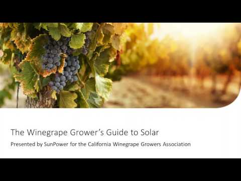 The Winegrape Growers Guide to Solar