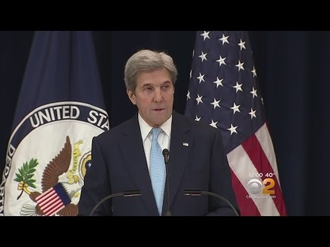 Kerry Delivers Speech On Middle East Policy