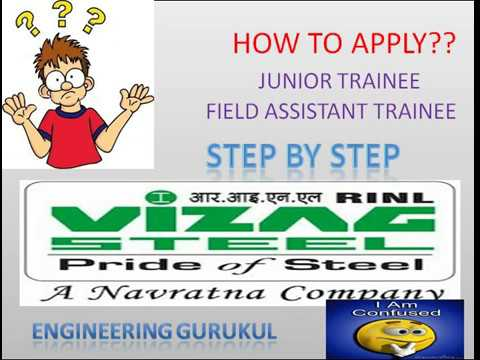 complete detail Application Process (STEP BY STEP)junior trainee/field assistant