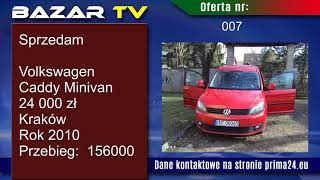 Bazar TV. (1) Ogłoszenia, sprzedam, kupię. Samochody, nieruchomości