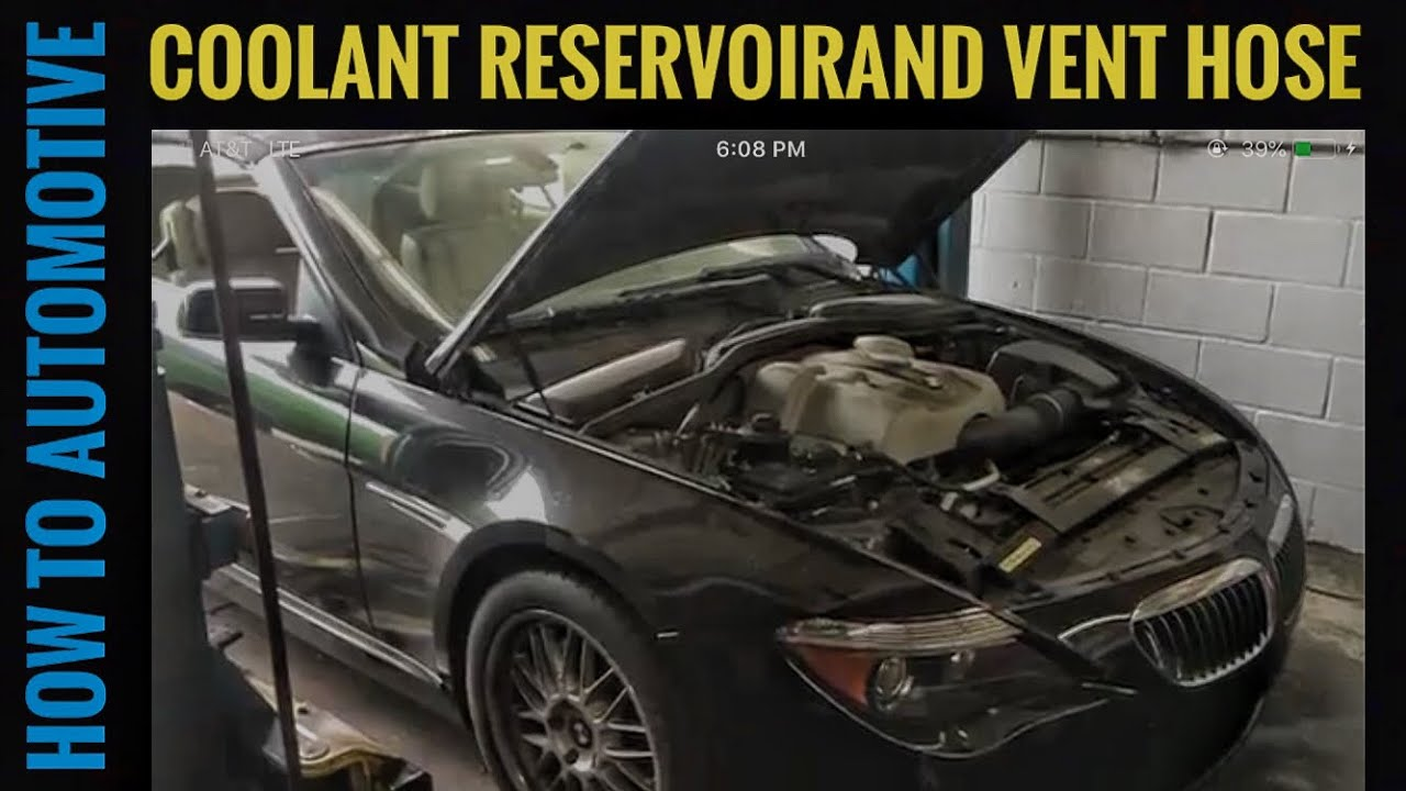 How To Replace The Coolant Reservoir Vent Hose On A 2005 Bmw 645ci 530i Engine Diagram