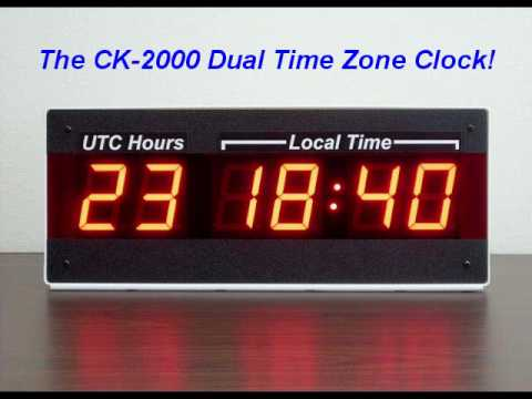 Led Dual Time Zone Wall Clock 24 Hour Military Utc Zulu