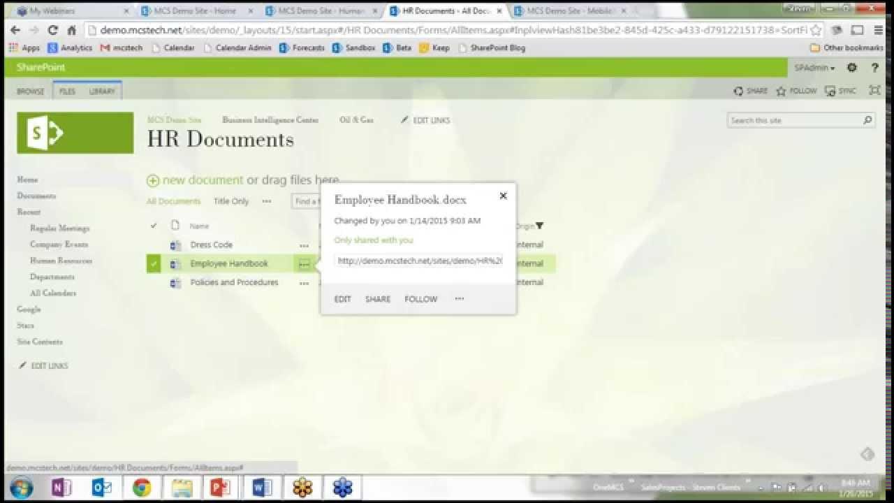 sharepoint document management youtube