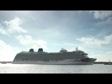 First glimpse of Britannia in Southampton