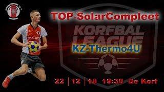 TOP/SolarCompleet 1 tegen KZ/Thermo4U 1, zaterdag 22 december 2018
