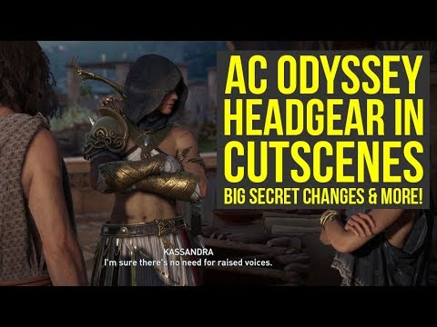 Assassin's Creed Odyssey Secret Changes & Glitch Shows Headgear In Cutscenes (AC Odyssey secrets) thumbnail