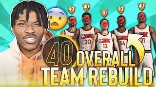 A NBA 2K21 Rebuild, But My Team is a 40 Overall...