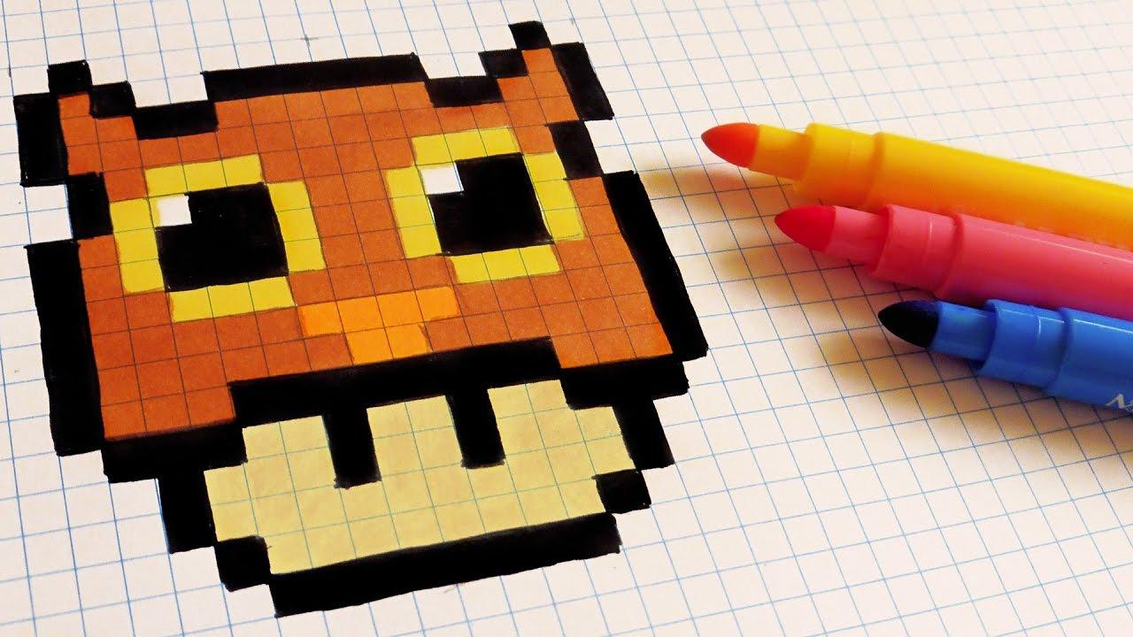 Halloween Pixel Art How To Draw Owl Mushroom Pixelart