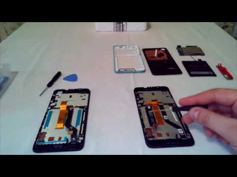 HTC Desire 626G. Замена модуля дисплея в сборе с сенсорным стеклом, разборка (touch screen).