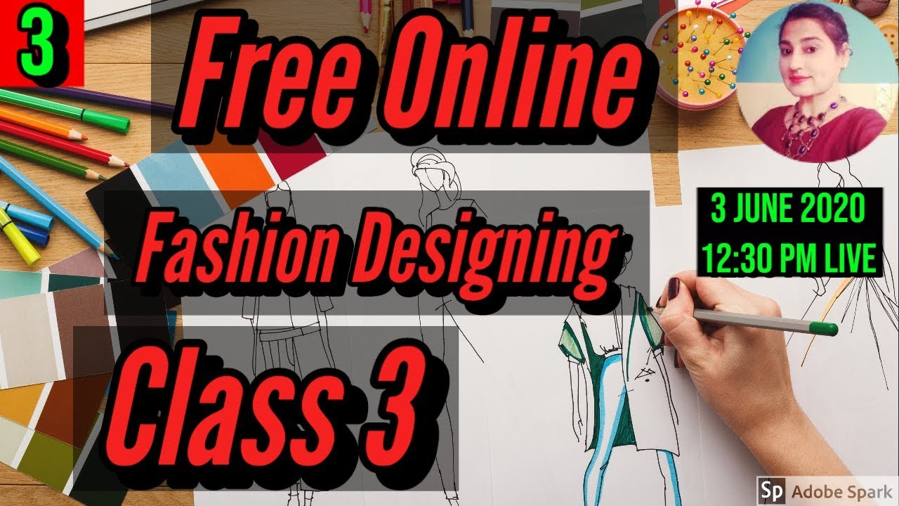 Free Online Fashion Designing Course Class 3 Facial Feature Illustration Eyes Youtube