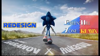 New Trailer Sonic the Hedgehog Movie - Cartoon Redesign with classic song - Fanmade