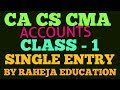 CA-IPCC/INTER #CLASS-1#CHAPTER-ACCOUNTS FOR INCOMPLETE RECORD (SINGLE ENTRY).(HINDI)/URDU).