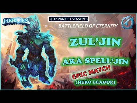 Grubby | Heroes of the Storm - Zul'jin aka Spell'jin - HL 2017 S3 - Battlefield of Eternity