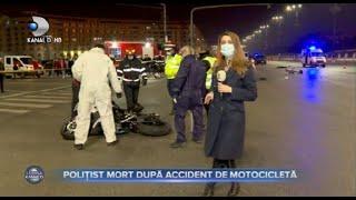 Stirile Kanal D(26.02)-Tragedie in fata Casei Poporului! Politist mort dupa accident de motocilceta!