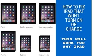 How to fix ipad not turning on or charging