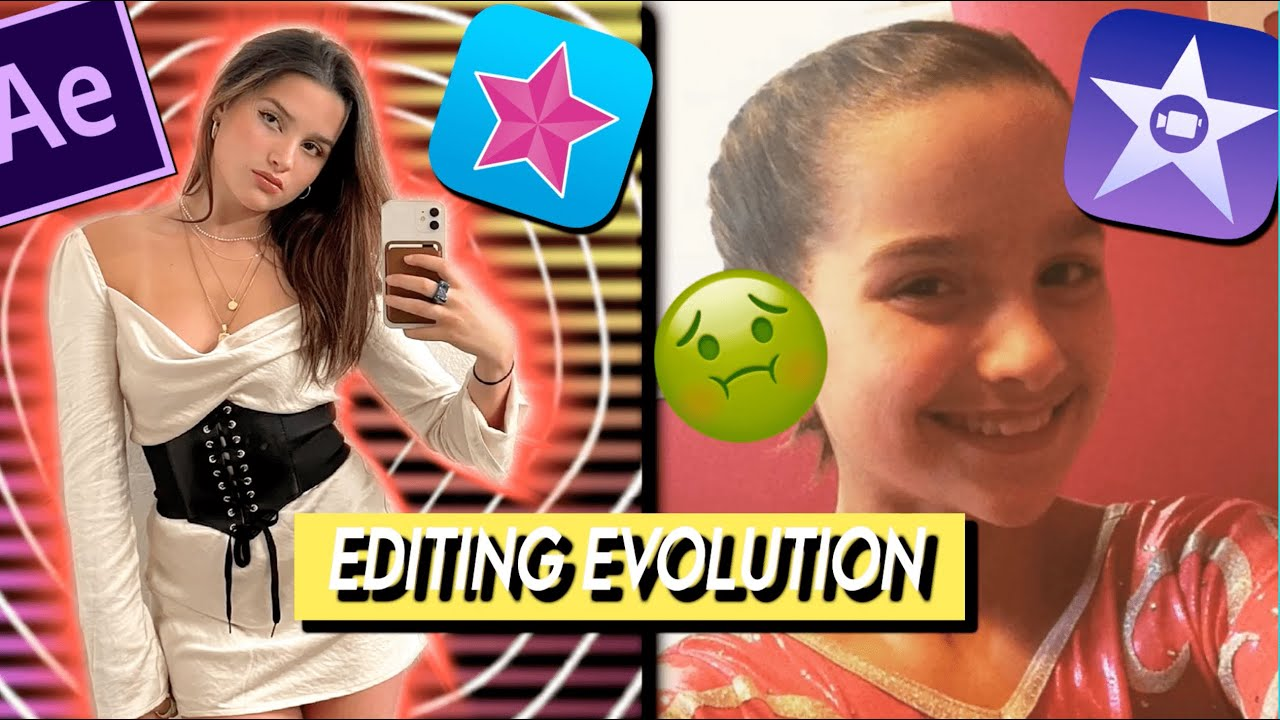 MY EDITING EVOLUTION BUT IT PROGRESSIVELY GETS WORSE! 2021-2016 (ae, vs, imovie)