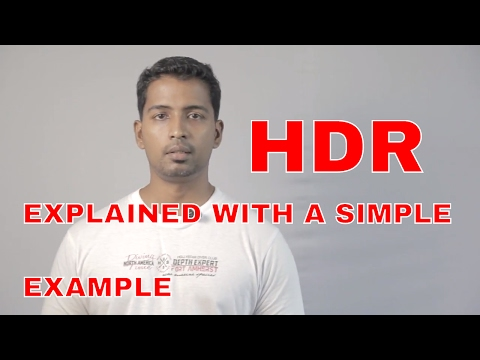 HDR (High Dynamic Range) explained with a simple example