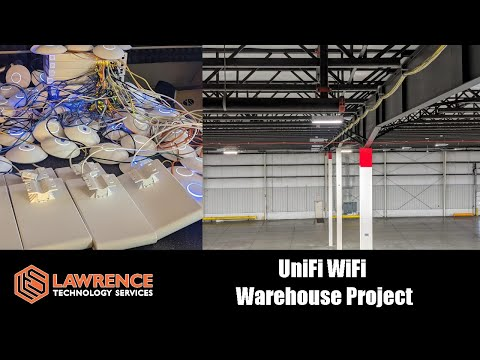 Project: Installing 52 Ubiquiti UniFi Wireless Access Points For A Warehouse.