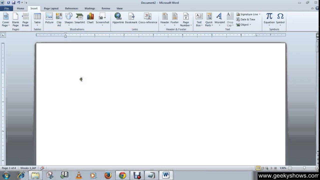 2010 microsoft office word