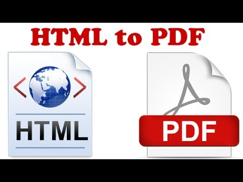 How To Convert HTML To PDF Document