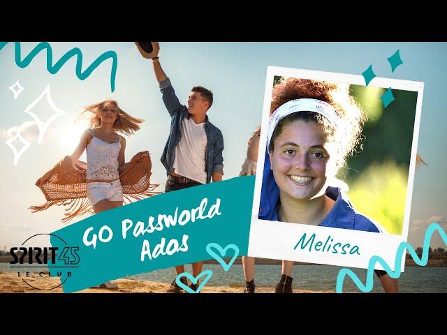 Mélissa - Go Passworld Ados - Travailler au Club Med
