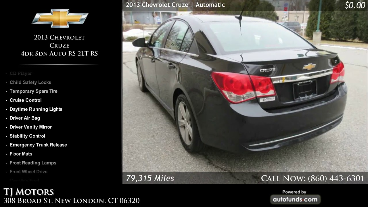 used 2013 chevrolet cruze tj motors new london ct