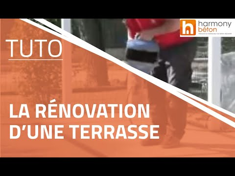 Rnovation DUne Terrasse Avec Un Spray Mortier  Youtube
