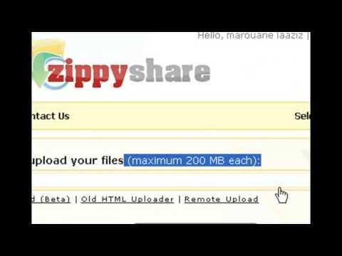 طريقة التسجيل +الرفع+االتحميل بواسطة موقع زايب شير zippy share