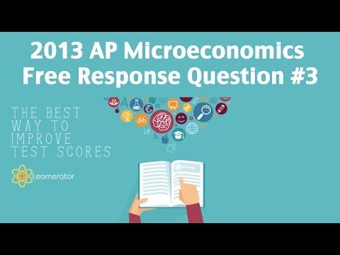 AP Microeconomics 2013 FRQ 3 Externalities YouTube