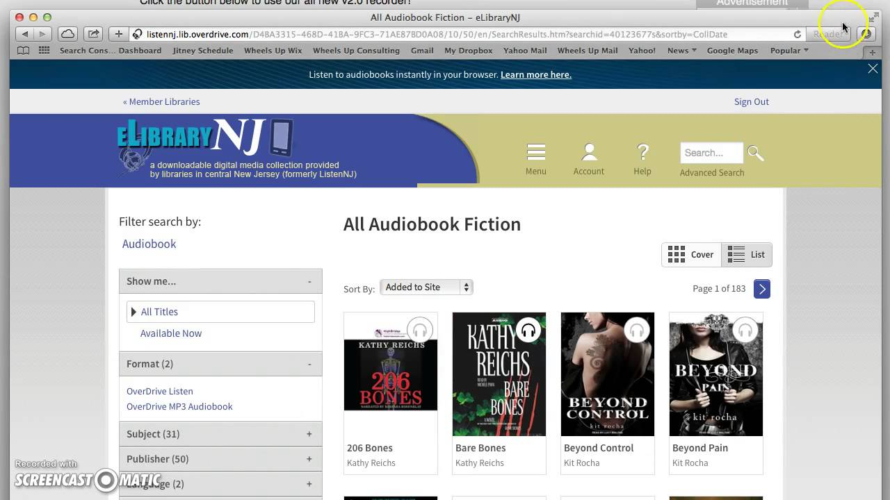 how to listen to audiobook on overdrive