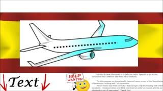 Spanish Conversation - On the plane = En el avión -  Buy Ticket, Travel, Luggage, Fly