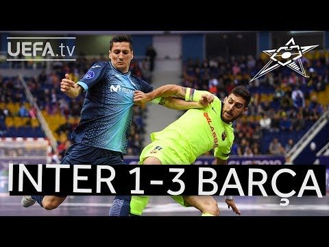 Futsal Champions League third place playoff Inter v Barca