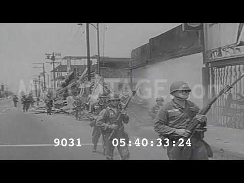 Stock Footage - Los Angeles Watts Riots 1965