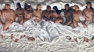 Ким Кардашьян и Голые звезды клип Сон MV Famous Kanye WestThe Life of Pablo.