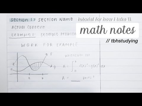 how i take math notes - YouTube