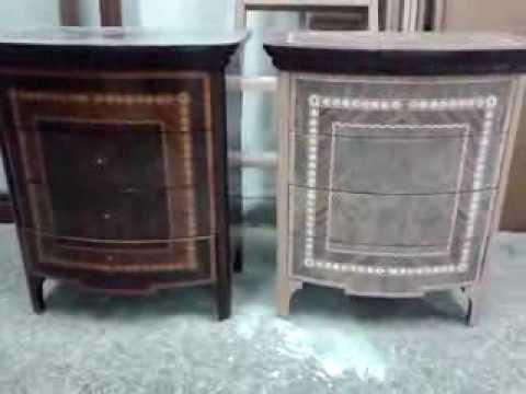 Restauracion de mueble comoda clasico y mesitas de dormitorio-4 - YouTube
