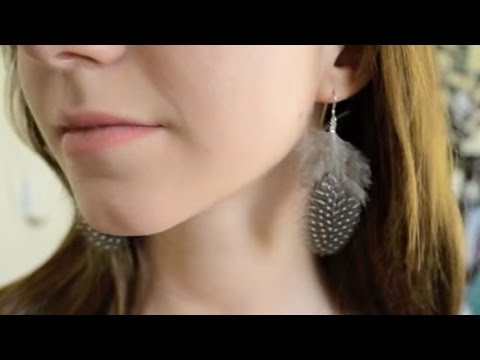 Feather Earrings Tutorial | DIY Jewelry Making