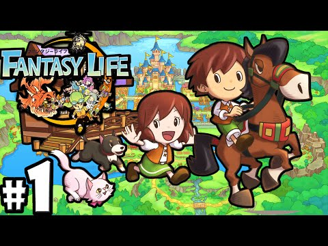 Fantasy Life 3DS: Adventure Lives! Character Creation PART 1 Mercenary Gameplay Walkthrough Nintendo