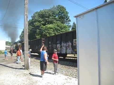 Old Train Roars Through Massillon Ohio