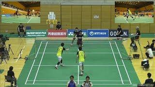 古賀 輝/齋藤 太一(NTT東日本) vs 東野 圭悟/渡部 大(JR北海道)MD 準々決勝 ランキングサーキット2018