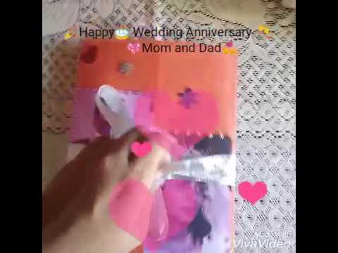 How To Make Simple Easy Wedding Anniversary Card For Your Parents