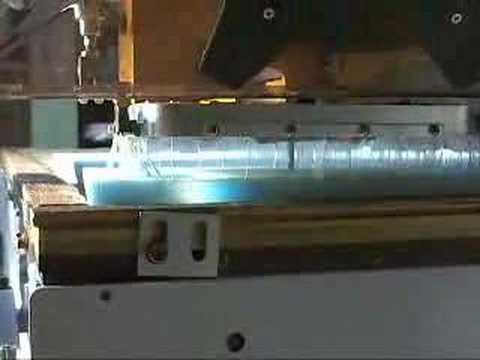CNC wood router carves hemisphere