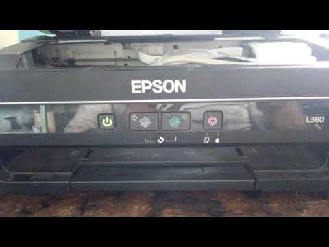 Head Clean Manually Epson L 380 Printer ! Head Clenning Epson L 380 !Power Ink Flashing Epson L 380