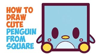 How to Draw Cute Penguins / Cute Chibi Kawaii Cartoon Penguins in Easy Step by Step Drawing for Kids